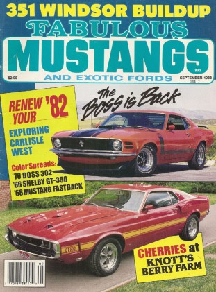 FABULOUS MUSTANGS 1988 SEPT - WICKERSHAM A/FX,SUPER GAS