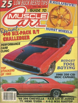 GUIDE TO MUSCLE CARS 1988 APR - SS WARS, 5.7L IROC-Z