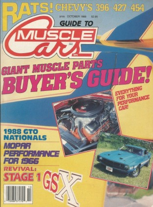 GUIDE TO MUSCLE CARS 1988 OCT - COPO, DAYTONA, MACHINE