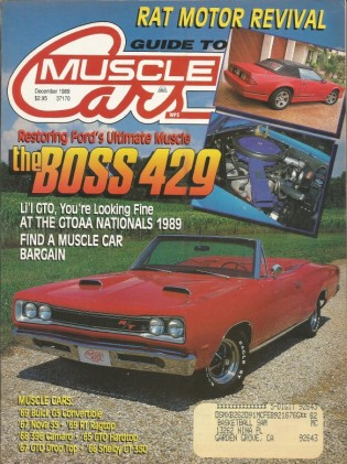 GUIDE TO MUSCLE CARS 1989 DEC - BOSS 429, 300-H, W-30
