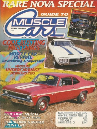 GUIDE TO MUSCLE CARS 1990 OCT - RARE TA, HEMI CHARGER