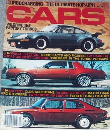 HI PERFORMANCE CARS 1978 JULY - INGLES, OLDS, T-TYPE*