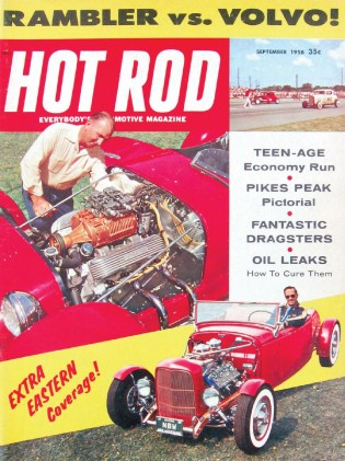 HOT ROD 1958 SEPT - PIKES PEAK, HEMI FIAT, PARRIOTT