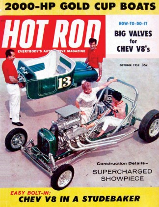 HOT ROD 1959 OCT - MICKEY TESTS, CHRISTMANs SIDEWINDER