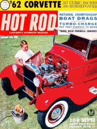 HOT ROD 1962 JAN - 360hp VETTE, FORMULA Jr, CULBERT*