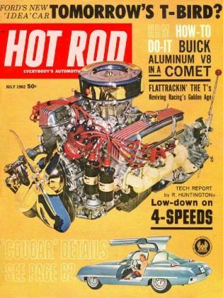 HOT ROD 1962 JULY - STONE-WOODS-COOK, NHRA, COUGAR