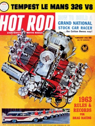 HOT ROD 1963 FEB - TEMPEST, DIXIE 400, CORVAIR