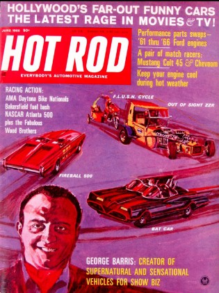 HOT ROD 1966 JUNE - BARRIS, ATLANTA 500, WOOD Bros.*