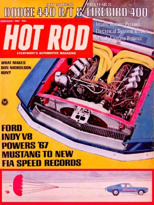HOT ROD 1967 FEB - DYNO, 440 R/T, FIREBIRD 400, SS350