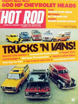 HOT ROD 1975 AUG - MICKEY THOMPSON, 600hp 302 MOUSE