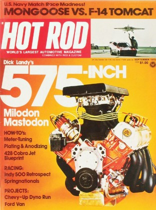 HOT ROD 1975 SEPT - PACEMAKER, 428CJ, 575CI HEMI*