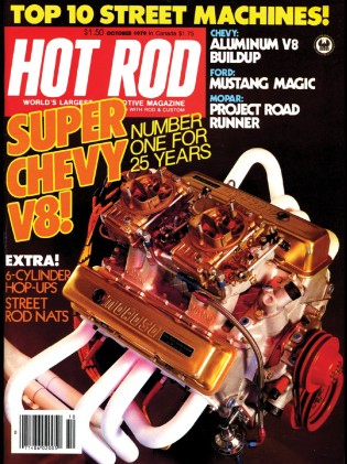 HOT ROD 1979 OCT - SMOKEY, MOUSE TRIBUTE, 6-POWER