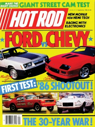 HOT ROD 1985 SEPT - FORD vs CHEVY WARS, TURBO REGAL