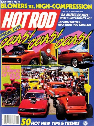 HOT ROD 1985 OCT - DAN DVORAK, CRATE BLOWER MILL