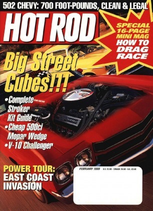 HOT ROD 1999 FEB - JILL DOES A WEDGE, HAWLEY, RAT