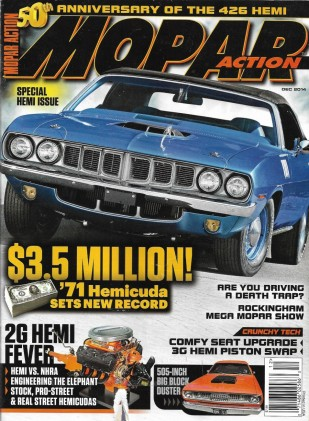 MOPAR ACTION 2014 DEC - 426 50TH ANNIV, ROCKINGHAM, BIG BLK DUSTER, HEMI v NHRA*