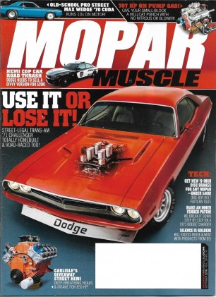 MOPAR MUSCLE 2016 OCT - HEMI COP CAR, '70 CUDA MAX WEDGE, 'TRANS AM '71 CHALL