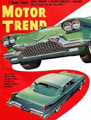 MOTOR TREND 1955 APR - MORMAN V16, NEW GM CONCEPTS, MERC CUSTOM, DeSOTO FIREFLITE*