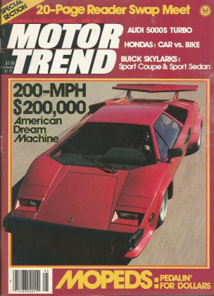 MOTOR TREND 1980 MAY - SHELBY GT-350H, COUNTASCH S