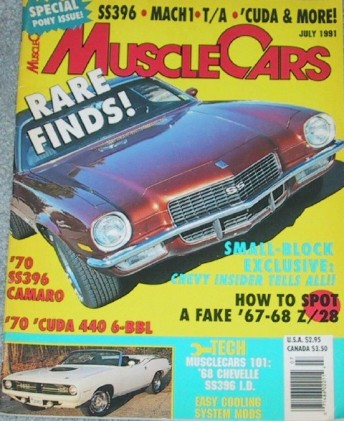 MUSCLE CARS 1991 JULY - FORD GT40 STREET CAR, JAVELIN