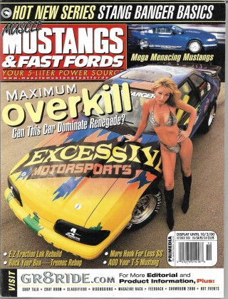 MUSCLE MUSTANGS & FAST FORDS 2000 OCT - 302 WITH 558HP