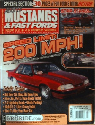 MUSCLE MUSTANGS & FAST FORDS 2001 JULY - INDUCTION