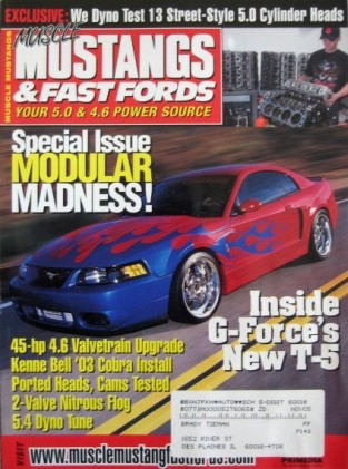 MUSCLE MUSTANGS & FAST FORDS 2003 SEPT - TRITON SWAP