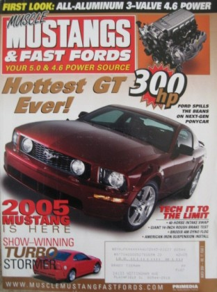 MUSCLE MUSTANGS & FAST FORDS 2004 MAR - NEW 3-VALVE
