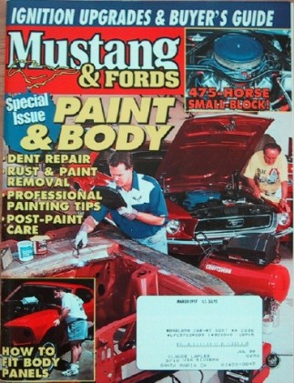 MUSTANG & FORDS 1997 MAR - K-CODE FAIRLANE, PAINT/BODY