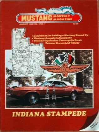 MUSTANG MONTHLY 1980 AUG - Vol. 3 No. 7 SAAC 5/DEARBORN