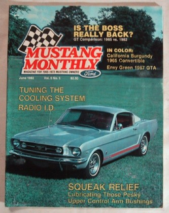 MUSTANG MONTHLY 1982 JUNE - K-CODE vs 5.0L vs GT350