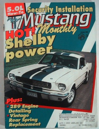 MUSTANG MONTHLY 1993 JAN - CARROLL SHELBY & HIS TOYS