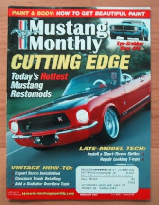 MUSTANG MONTHLY 2005 FEB - NIGHT MIST BLUE, BLUE GLOW