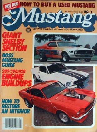 MUSTANG by HOT ROD 1980 #1 - SHELBY COBRAS, MEAN 289