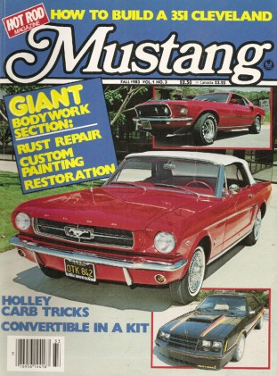 MUSTANG by HOT ROD 1983 FALL V1, #3 - NEW LOREZEN GT