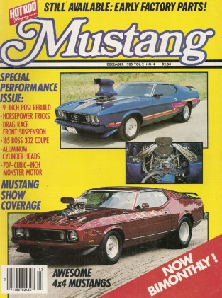 MUSTANG by HOT ROD 1985 DEC Vol 2 No 4 - BOSS 429, 4X4