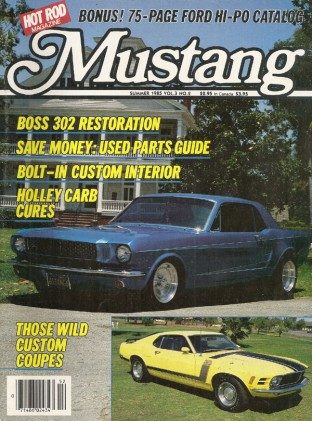 MUSTANG by HOT ROD 1985 SUMMER V 3, #2 - CUSTOMS, 4X4