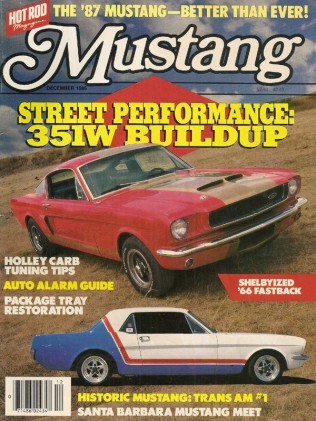 MUSTANG by HOT ROD 1986 DEC V 4, #6 - SHELBY T-A