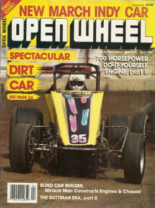 OPEN WHEEL 1988 APR - MAR INDY CAR, FREEMAN DOWNING, HUNT-JENKINS CAR