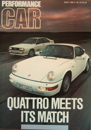 PERFORMANCE CAR 1989 MAR - QUATTRO vs. CARRERA 4