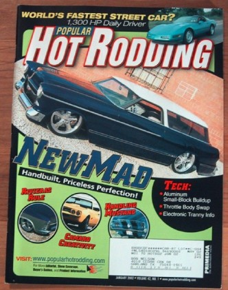 HOT RODDING 2002 JAN - 1300hp VETTE, NewMad, BONNEVILLE
