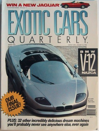 ROAD & TRACK SPECIAL EXOTIC CARS QUARTERLY 1991 Vol. 2, #4