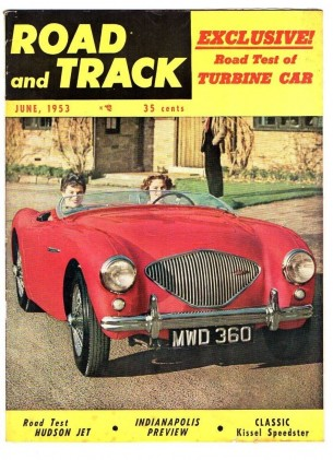 ROAD & TRACK 1953 JUNE - Vol4 #10, ROVER TURBINE, KISSEL GOLD BUD, SUPER JET
