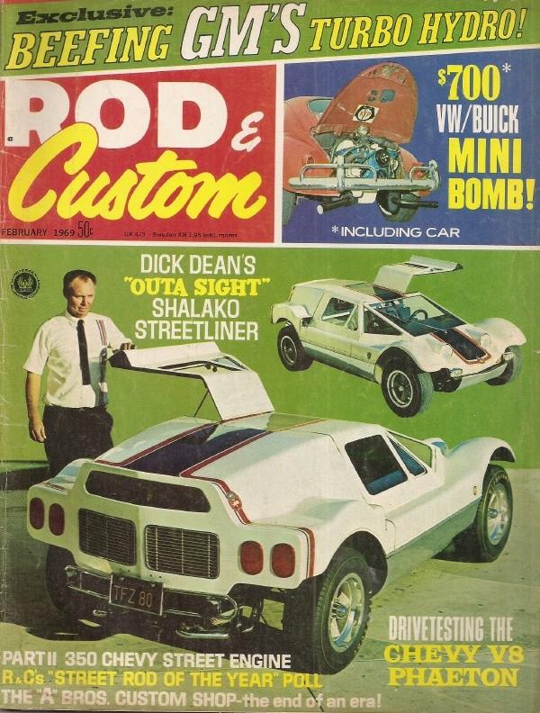ROD & CUSTOM 1969 FEB - BUICK V6 INTO A BUG, BUILD A STOUT TH400, HOT MOUSE  - 1960-1969 - JIM'S MEGA MAGAZINES
