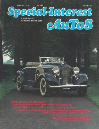 SPECIAL-INTEREST AUTOS 1976 SEPT #36 - '41 CADDY Spcl,'36 FORD ROADSTER*