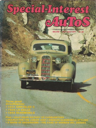 SPECIAL-INTEREST AUTOS 1977 MAY #40 - '34 LA SALLE Spcl,MINI-JEEPS,'31 CHRYSLER