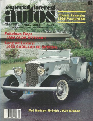 SPECIAL-INTEREST AUTOS 1985 APR #86 - SPEED Wk, JETSTAR,Packard 526