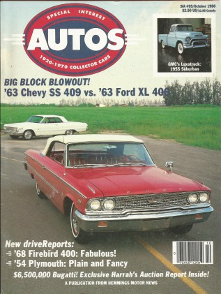 SPECIAL-INTEREST AUTOS 1986 OCT #95 - 409 vs. 406,HURST,FIREBIRD 400, FITCH T/A