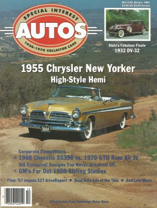 SPECIAL-INTEREST AUTOS 1991 OCT #125 - SS396 vs. GTO,GM '59 CONCEPTS