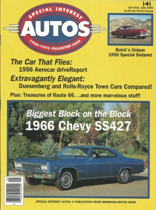 SPECIAL-INTEREST AUTOS 1994 JUNE #141 - SCAGLIONE,SS427,'67 ROGUE 343, AEROCAR